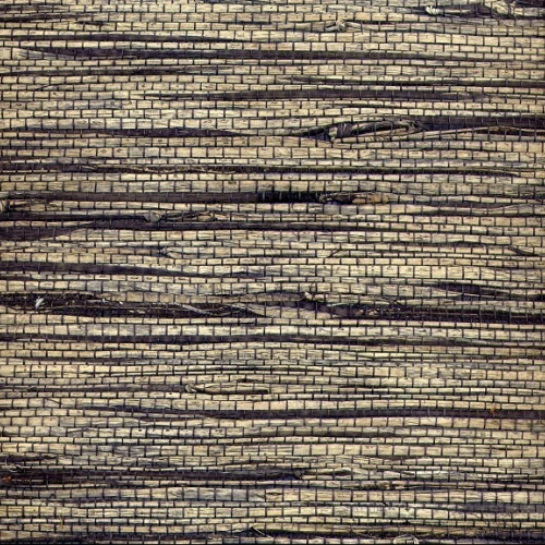 Eileen Gray Occasional Table Dark Symmetry Seagrass Natural Grasscloth Wallpaper | The Natural ...