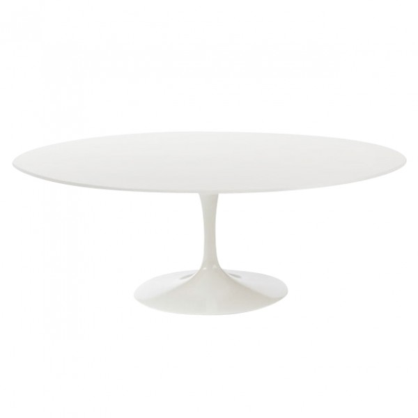198 cm  Oval Tulip Table – White Top