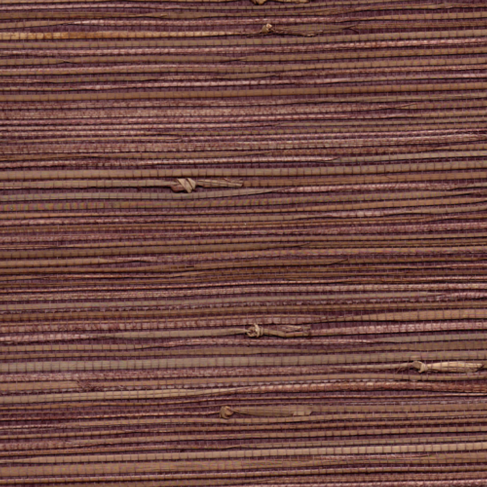 Grass Paper Wall Covering : Aubergine natural grasscloth wallpaper the