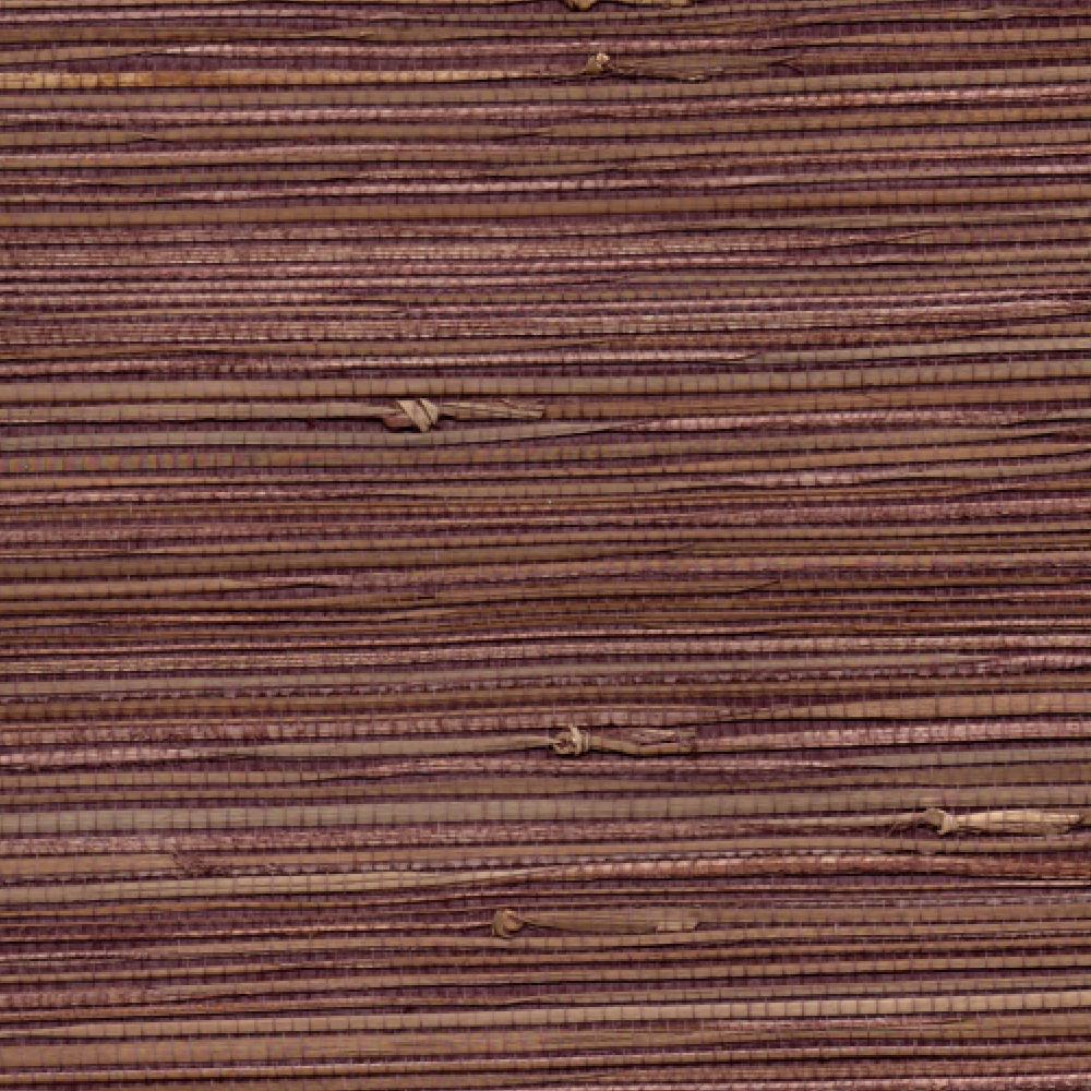 Grasscloth Walls: Aubergine Natural Grasscloth Wallpaper
