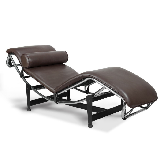 Le corbusier inspired lc4 chaise longue for Chaise longe le corbusier