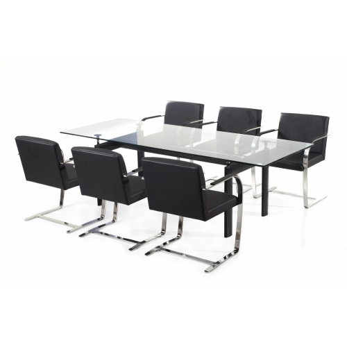 le corbusier style lc6 dining table. Black Bedroom Furniture Sets. Home Design Ideas