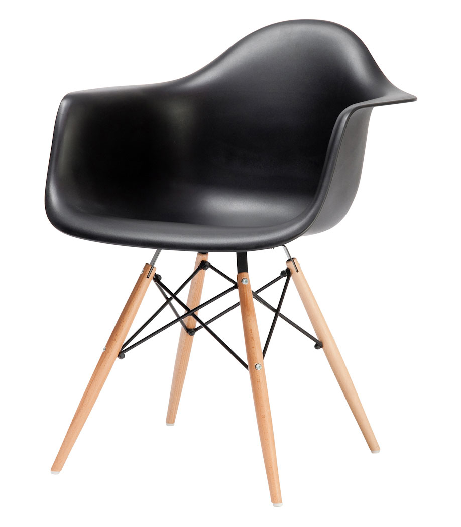 eames style daw dowel armchair. Black Bedroom Furniture Sets. Home Design Ideas