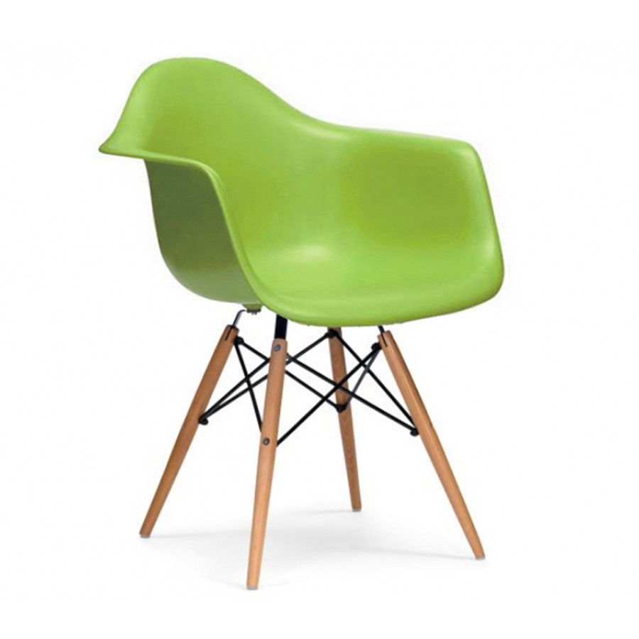 Eames Style DAW Dowel Armchair : Eames Green DAW chair1 from thenaturalfurniturecompany.co.uk size 900 x 900 jpeg 166kB