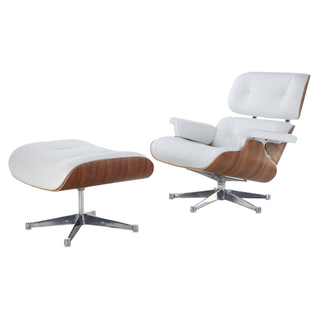 Great Eames Style Lounge Chair And Ottoman