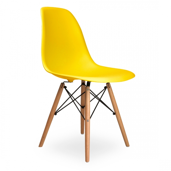 Eames Style DSW DiningSide Chair : Eames Yellow DSW Chair1 from thenaturalfurniturecompany.co.uk size 600 x 600 jpeg 148kB