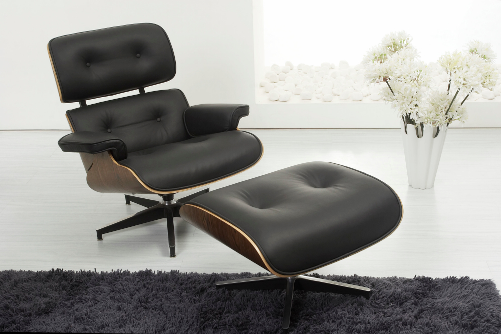 Eames Style Lounge Chair Ottoman