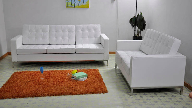 florence knoll style 3 seater sofa. Black Bedroom Furniture Sets. Home Design Ideas