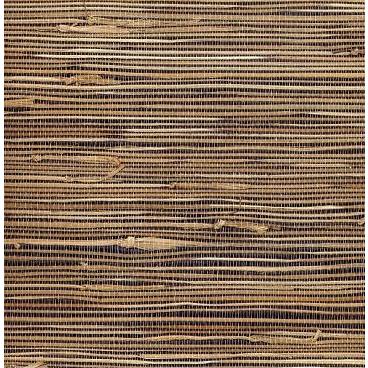 Golden blue seagrass natural grasscloth wallpaper