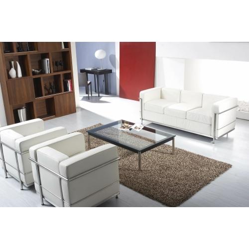 Le Corbusier Style LC2 Petite 3 Seater Sofa