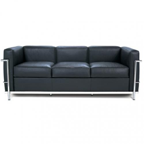 Le Corbusier Style Lc2 Ptite 3 Seater Sofa