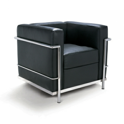 corbusier style lc2 petite armchair. Black Bedroom Furniture Sets. Home Design Ideas