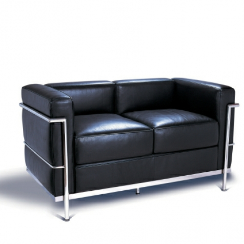 Le corbusier lc2 petite 2 seater sofa for Le corbusier sofa