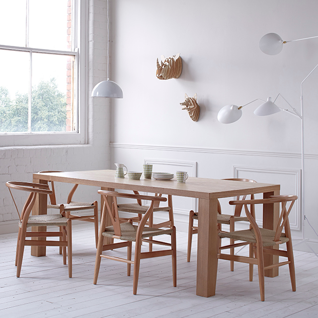 moderno ash dining table the natural furniture company ltd