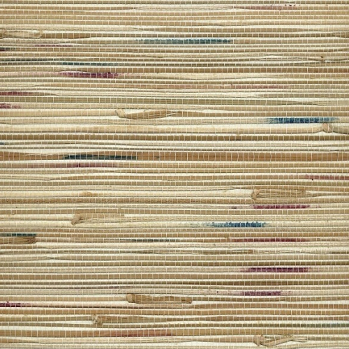 Grasscloth Walls: Multi Coloured Natural Seagrass Wall Covering