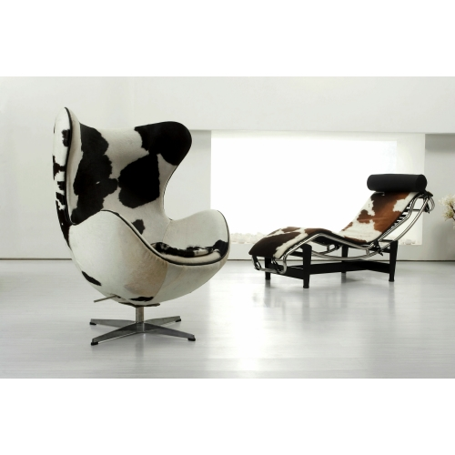 Le corbusier inspired lc4 chaise longue for Chaise longue le corbusier vache