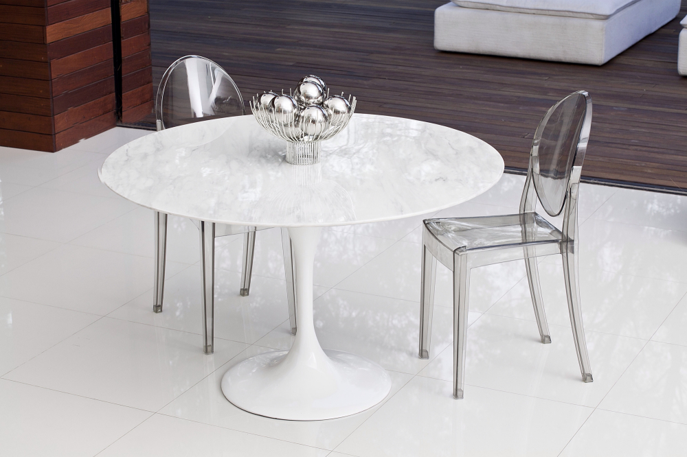 Tulip Marble Table 90cm The Natural Furniture Company Ltd