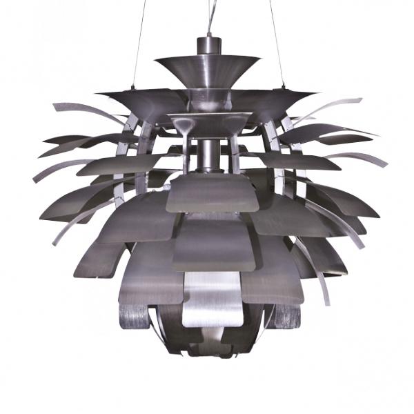 Artichoke Pendant Light 72 Cm Brushed Aluminium Jpg