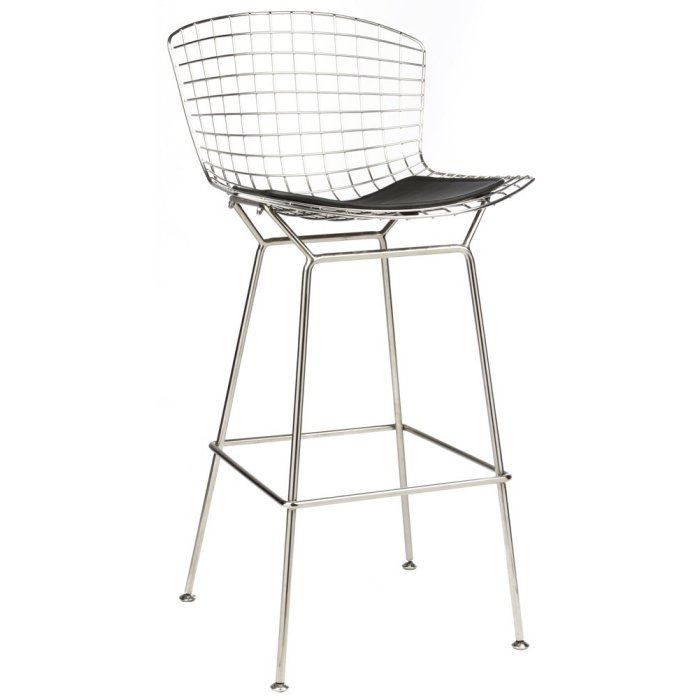 Bertoia Inspired Wire Bar Stools