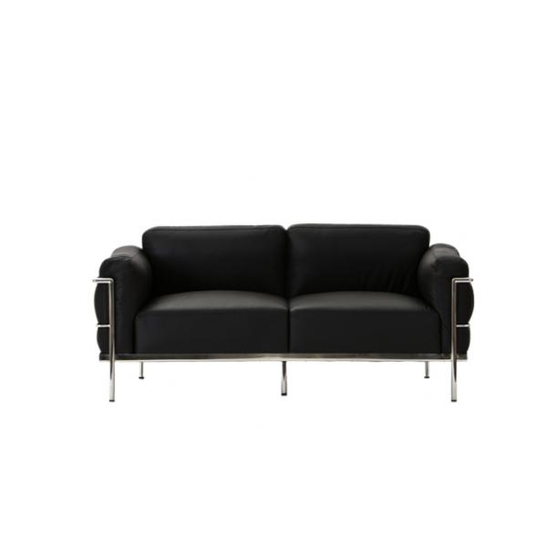 Corbusier inspired grand comfort 2 seater sofa the for Furniture 2 inspire ltd