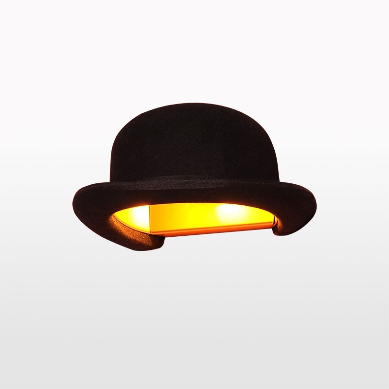 Jeeves Bowler Hat Wall Light