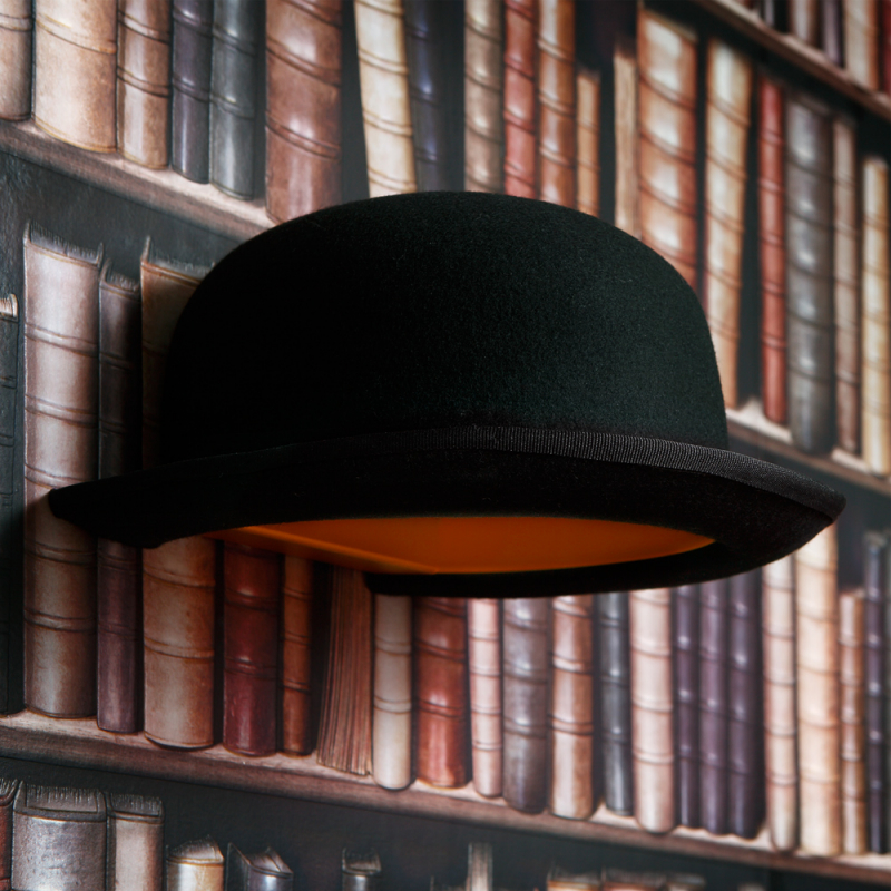 df2c482e3ab Jeeves Bowler Hat Wall Light - The Natural Furniture Company Ltd