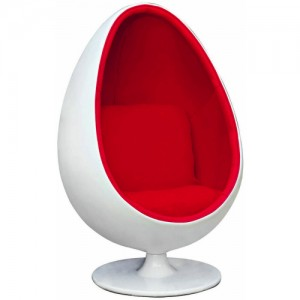 Egg Pod Chair Red Fabric 1