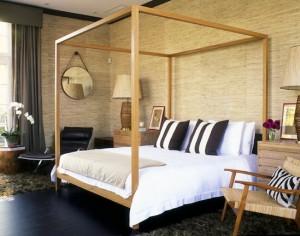 grasscloth bedroom 1