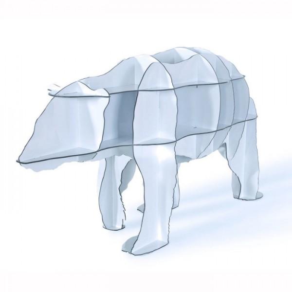 Ibride- Junior Bear Shelving Unit – White