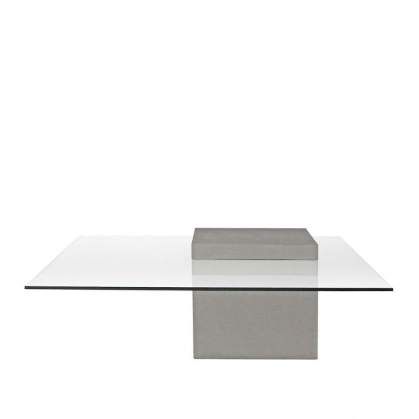 Verviene Concrete Glass Coffee Table Lyon Beton - Concrete and glass coffee table