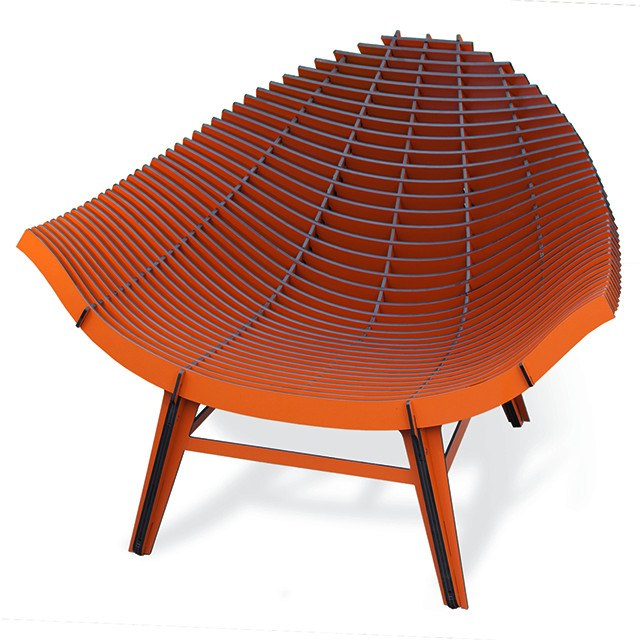 Ibride Manta Chair-Orange