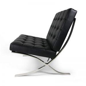 Pavilion Chair Italian Black Leather