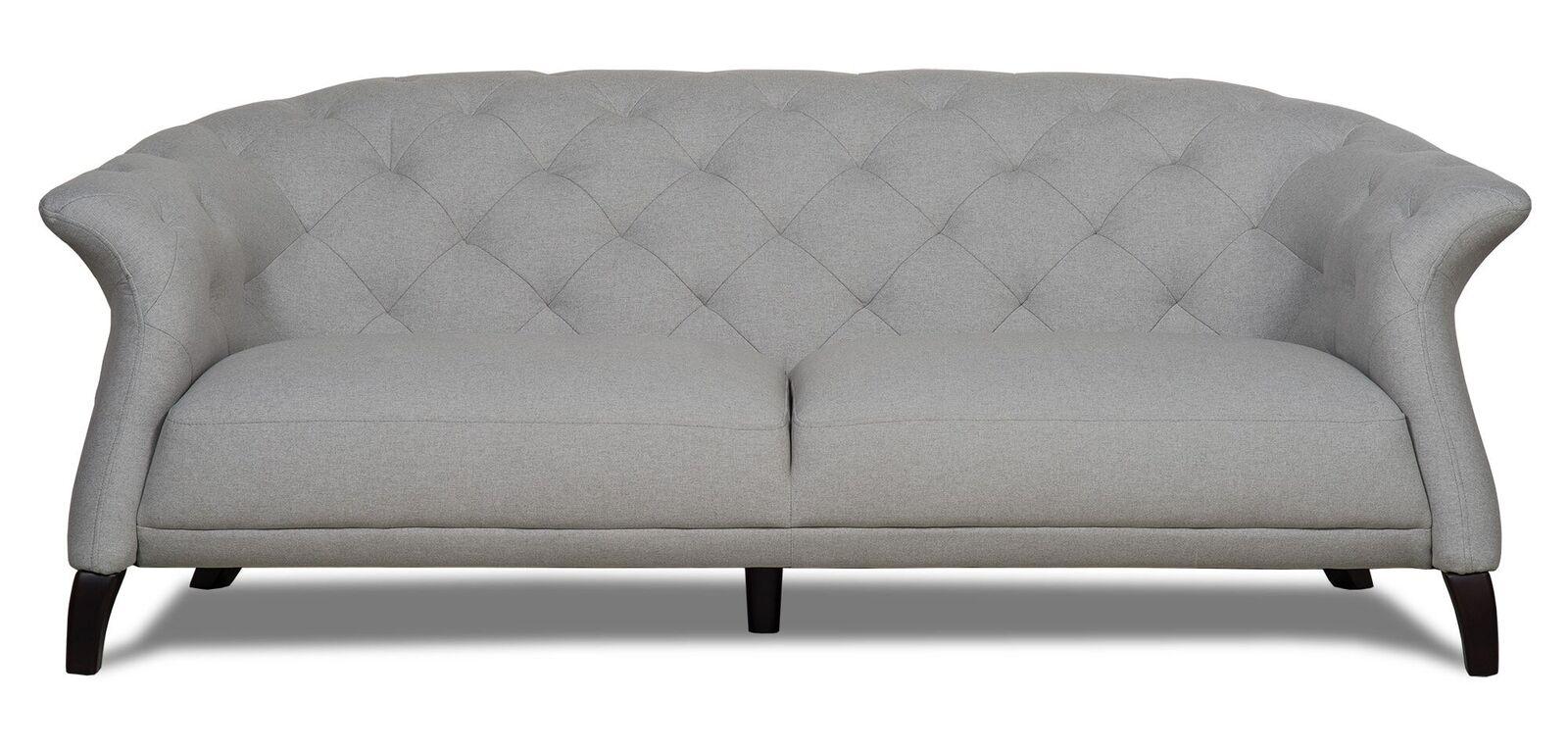 Crispin 4 Seater Modern Chesterfield Sofa Grey Modern Chesterfield