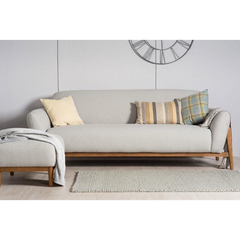 Milo Modern 3 Seater Sofa U2013 Light Grey