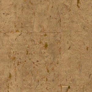 Helios Gold metallic cork wall covering