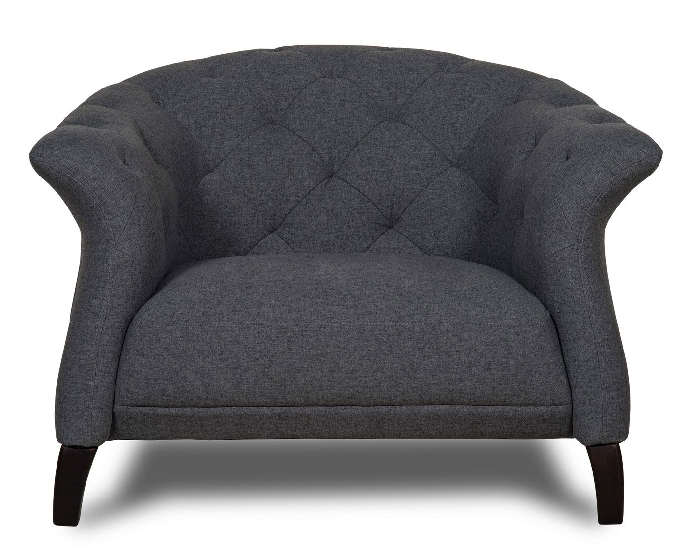Crispin Armchair Dark Grey The Natural Furniture Company Ltd