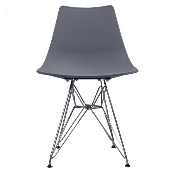 Eames Style Eiffel Chair- Anthracite front view
