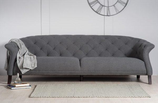 Dark Grey Chesyterfield sofa