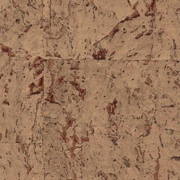 Opulent Rouge Cork Wallpaper