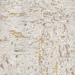 Golden Ivory Cork Wallpaper