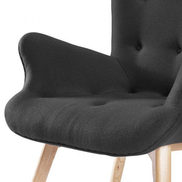 Contour Lounge Chair & Ottoman close up