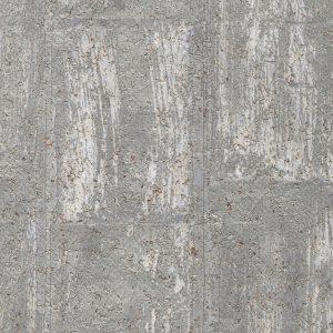 Distressed Pewter Cork Wallpaper