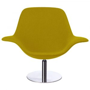 Rona Lounge Chair Mustard Front View